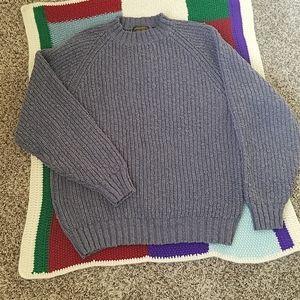 Eddie Bauer Chunky Blue Sweater Men's Sz XLT